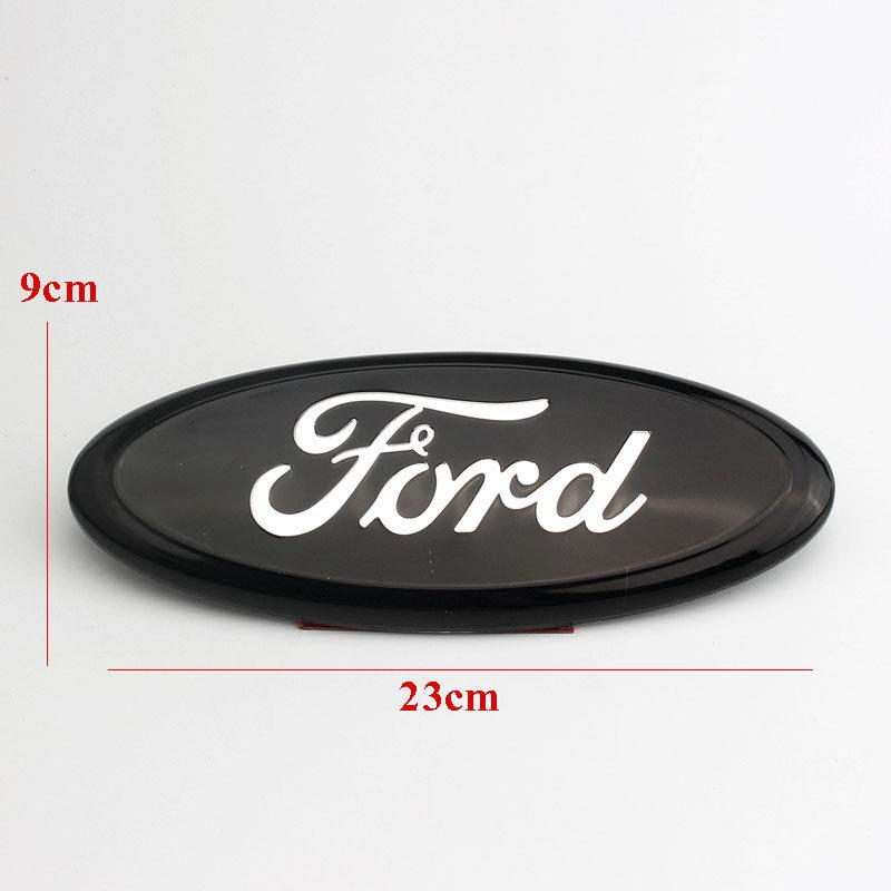 "9/"" Black/&Chrome Logo Oval Front Grill Emblem Badge For Ford F150 Ranger Explorer"