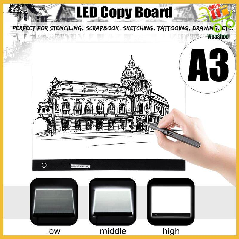 A3 Table Stencil Display Drawing Copy Tracing LED Light Box Board Pad