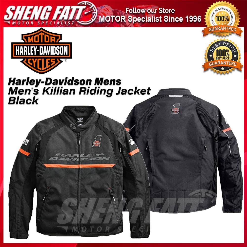 Harley-Davidson Mens Men's Killian Riding Jacket Black- [ORIGINAL]