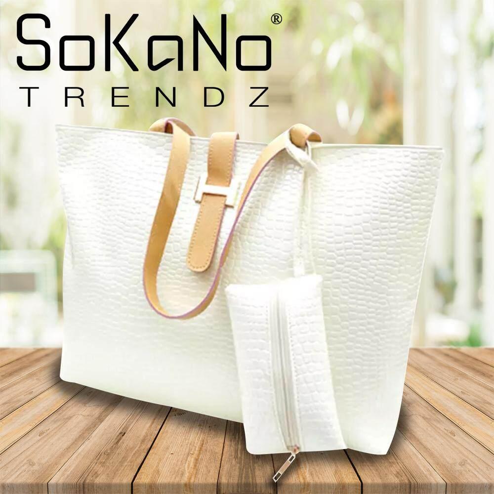 (RAYA 2019) SoKaNo Trendz Textured Leather Handbag White