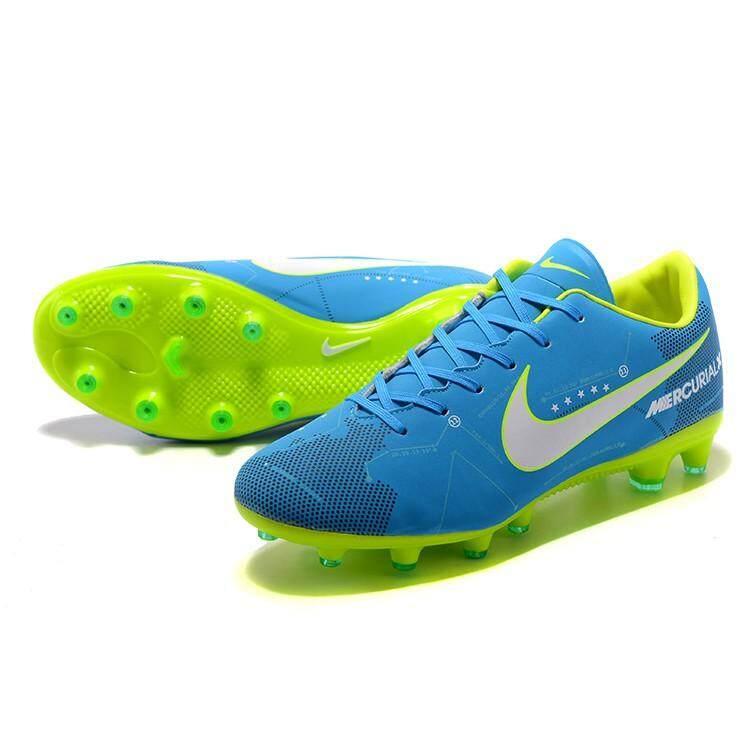 สระแก้ว Nike Unisex Mercurial Victory XI AG รองเท้าฟุตบอลปุ่มสตั๊ดสีฟ้า