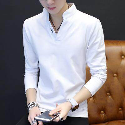 JYS Fashion Korean Style Men Stand Collar Long Sleeve Shirt Collection 278-2983