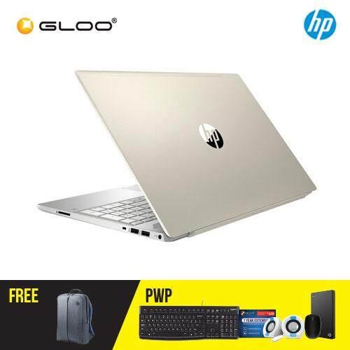 "HP Pavilion 15-cs1026TX 15.6"" FHD Laptop (i5-8265U, 1TB, 4GB, Nvidia MX150 2GB, W10) -Gold [FREE] HP Backpack"