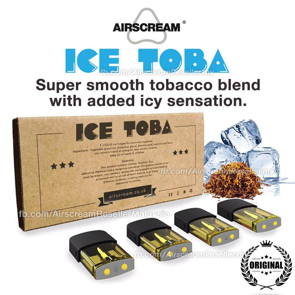 Airscream Airspops Cartridge Ice Toba Pod Flavour (4 Cartridges)