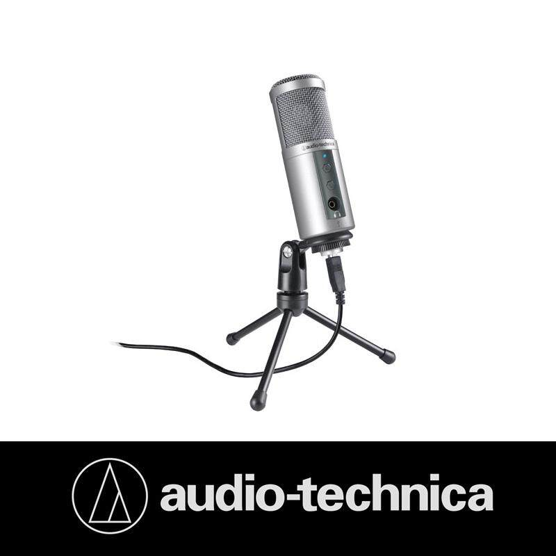 Audio Technica ATR2500 USB Cardioid Condenser USB Microphone 1.8m Cable with Tri-pod for Podcast Home Studio