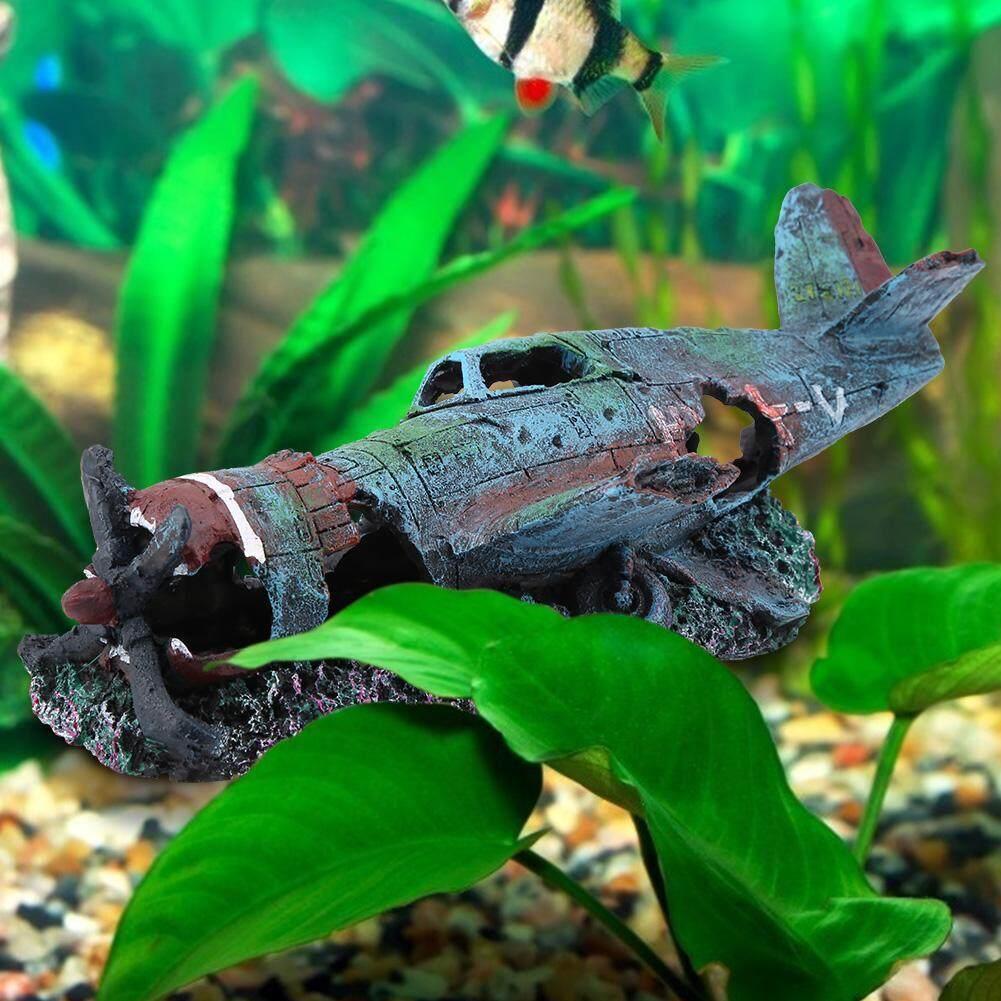 Mangouu Nhân Tạo Hư Hại Máy Bay Bể Cá Cá Vật Trang Trí Trang Trí Phong Cảnh Trang Trí