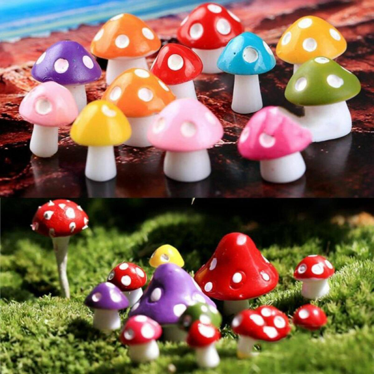 Mushroom Miniature Fairy Moss Terrarium Resin Craft Garden Art Decor Creative Lazada Singapore