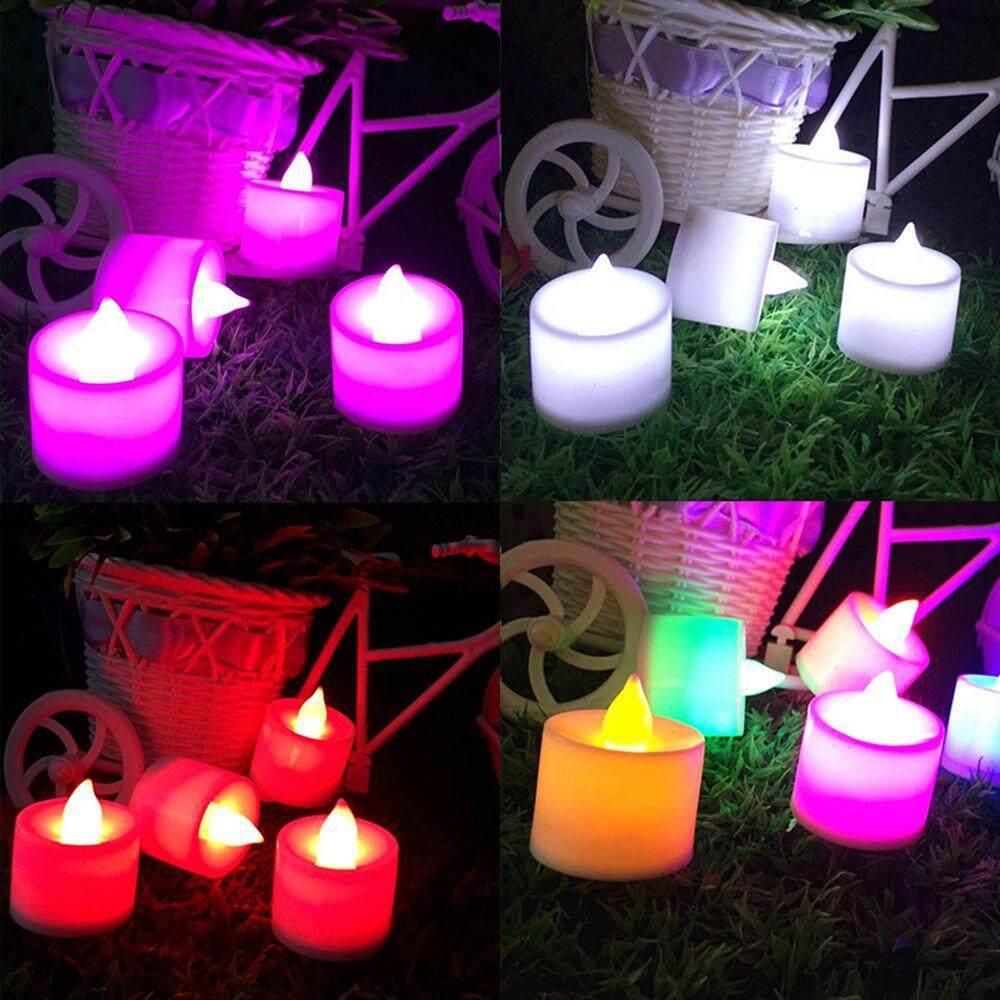1 * Nhảy Múa Bir Hẹn Giờ Sáp Nhấp Nháy Đèn Cưới Đèn An Toàn Màu Sắc Nến Đề Nghị Đảng Nến Tealight Giáng Sinh Trà Nến Flameless đèn LED LED Nến Đèn