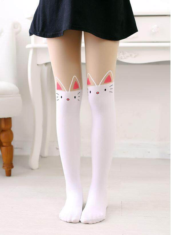 Kids Girl Panty Hose Legging - Cute Kitty