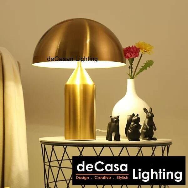 New Arrival E14 LED Bulb Gold Designer Modern Decorative Designer Table Lamp DECASA (TB-MUSH-GD)