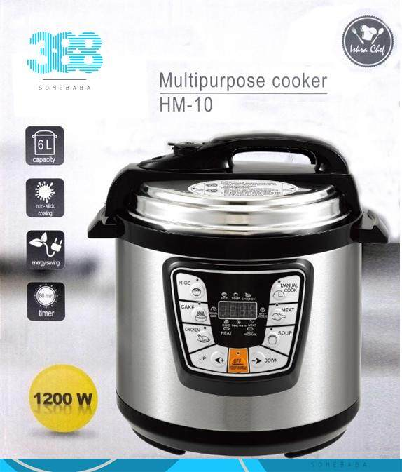 【READY STOCK】6L 1200W Electric Pressure Cooker 6 Programmed Timer Rice Cooker