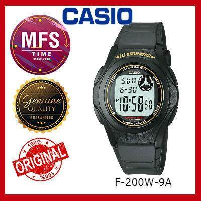(2 YEARS WARRANTY) CASIO ORIGINAL F-200W SERIES YOUTH DIGITAL UNISEX WATCH
