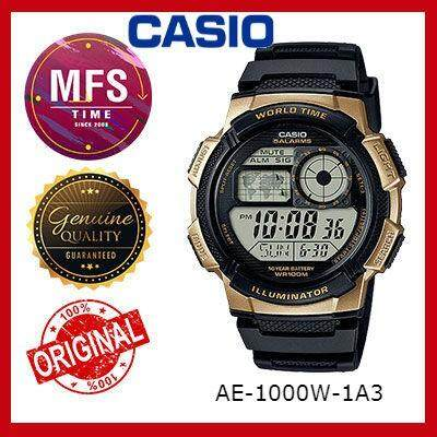 (2 YEARS WARRANTY) CASIO ORIGINAL AE-1000W-1A3 SERIES STANDARD DIGITAL WATCH black