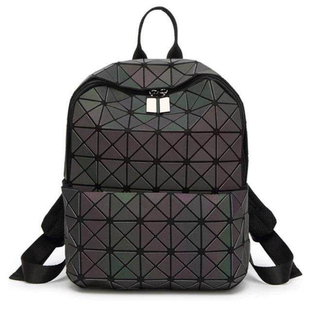 ALP Bao for Woman Everyday Carry Bag Travel Stylish 2018 / 2019 3D Small Backpack Triangle Pattern Geometric Rhombic Petal Plated Bag