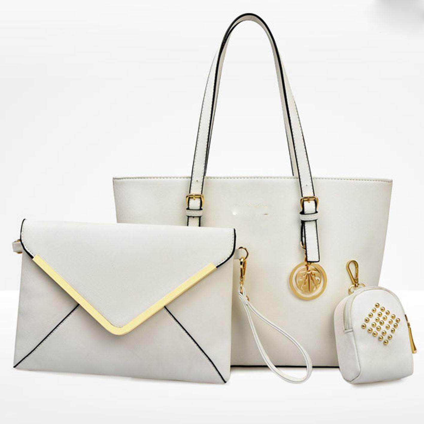 Lulumono PU Leather 3 in1 Tote Dinner Clutch Bag