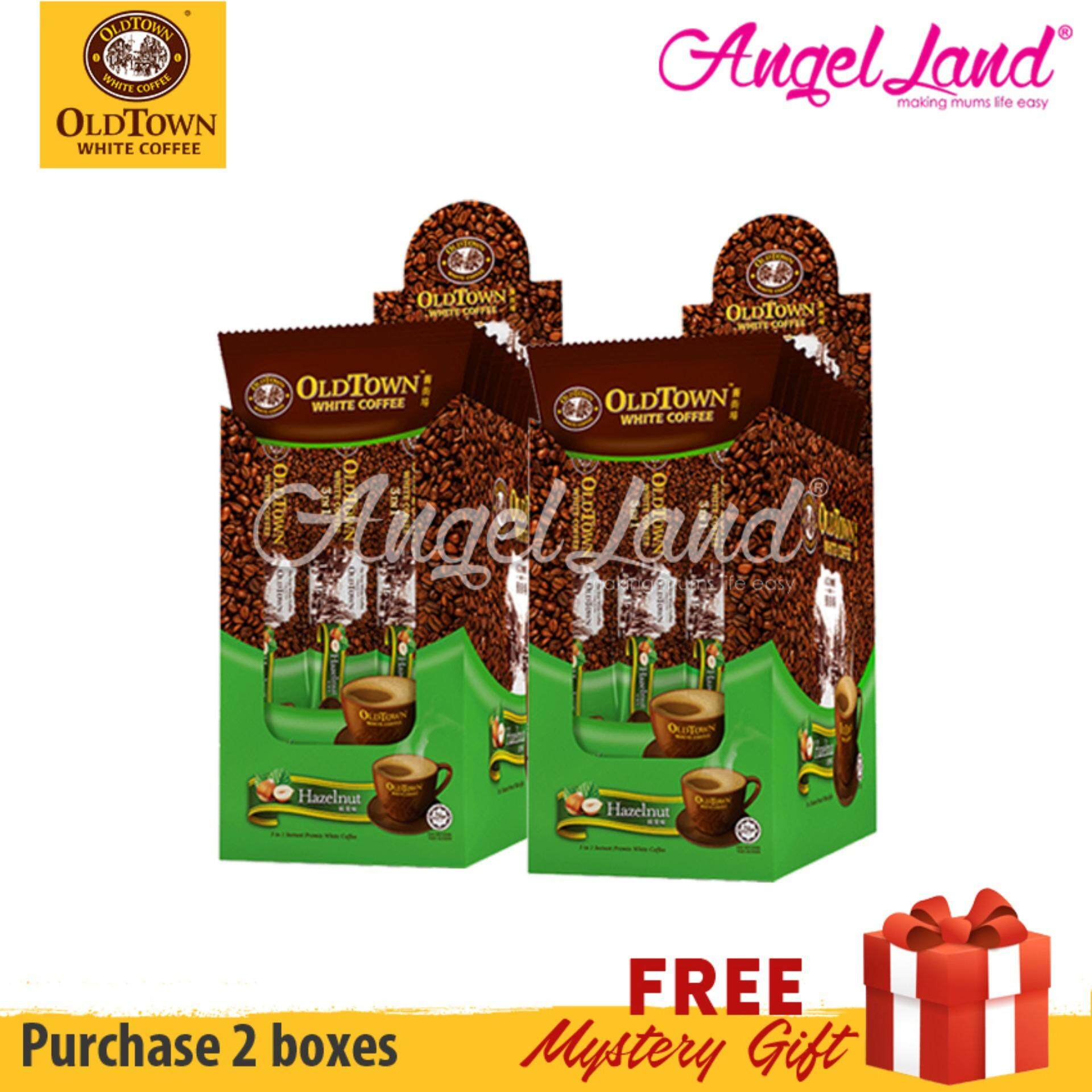 OLDTOWN White Coffee 3-in-1 Hazelnut Instant Premix White Coffee Convenient Box (3'S X 10)  (2 Boxes)[FOC Mystery Gift)