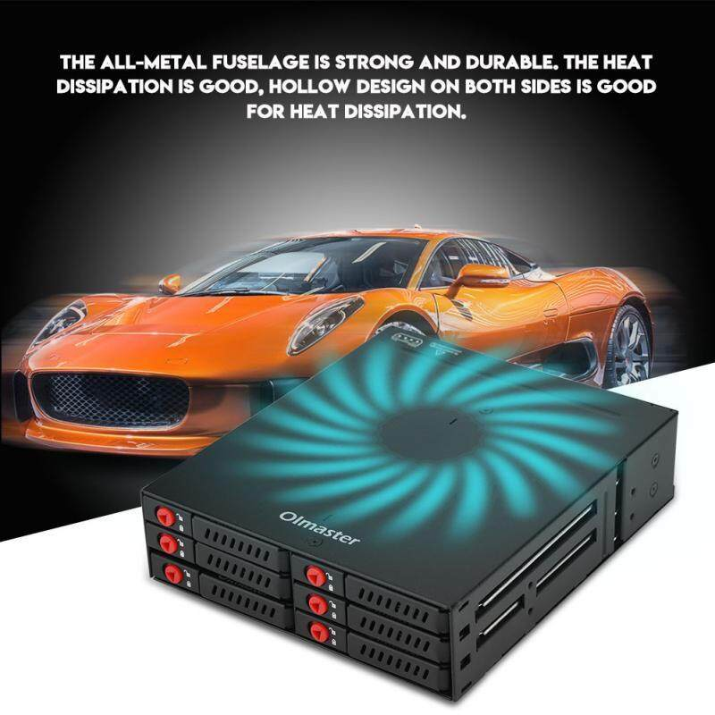 External Hard Drives - OImaster Six-Bay Memory Built-In Hard Disk Compartment Multi-Place Convenient