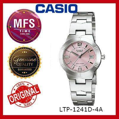 (2 YEARS WARRANTY) CASIO ORIGINAL ENTICER LTP-1241D-4A SERIES LADIES WATCH