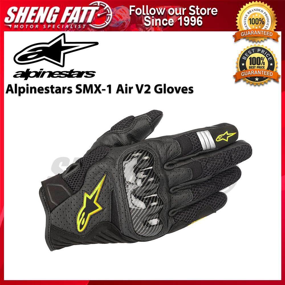 ALPINESTARS SMX-1 AIR V2 GLOVES (BLACK/YELLOW FLUO)