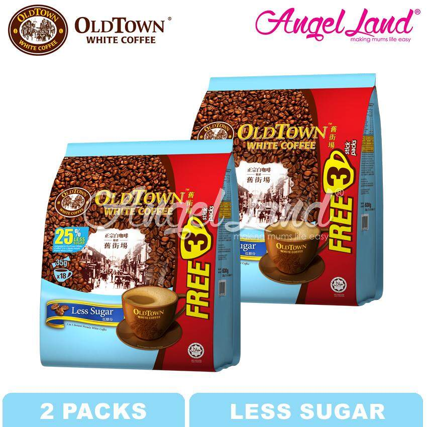 OLDTOWN White Coffee 3-in-1 Less Sugar Instant Premix White Coffee (15'S+3'S X 2 packs)