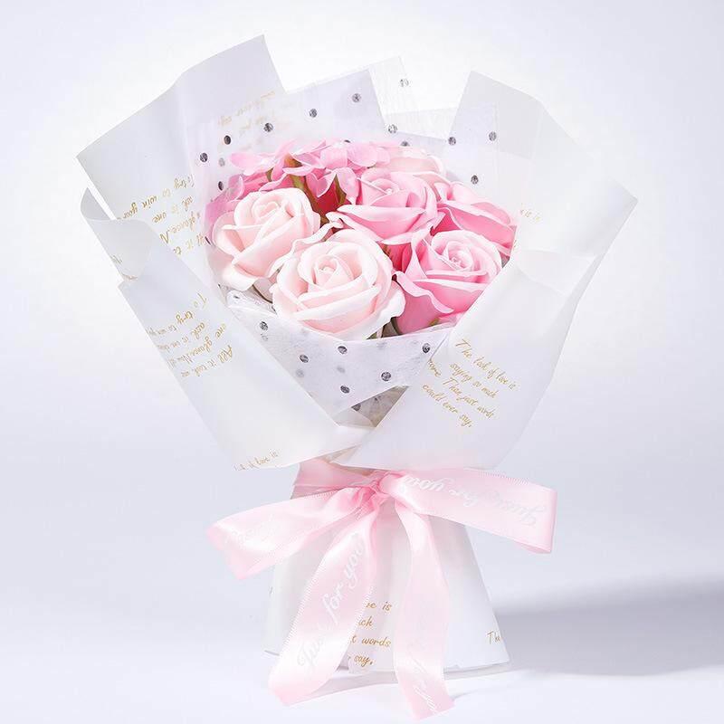 7 Pcs Rose Flower Soap Gift Box Birthday Door