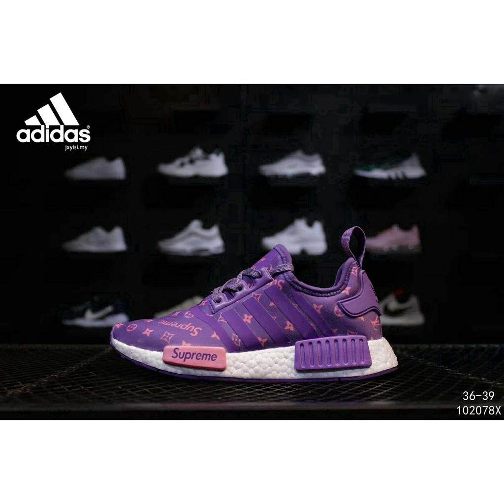 ยี่ห้อไหนดี  มุกดาหาร Diskaun แท้ Adidas NMD R1 นักเรียนผู้หญิงรองเท้าเด็กผู้หญิง Wanita Kasutshoes