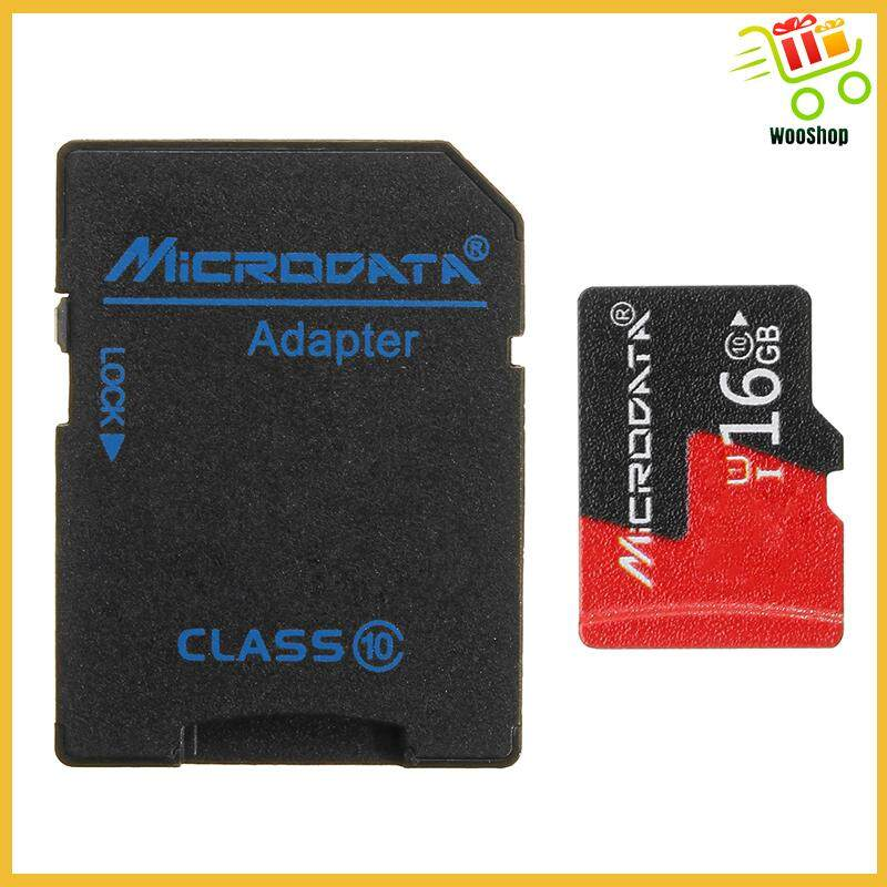 Microdata 16GB C10 U1 Micro TF Memory Card with Card Adapter Converter