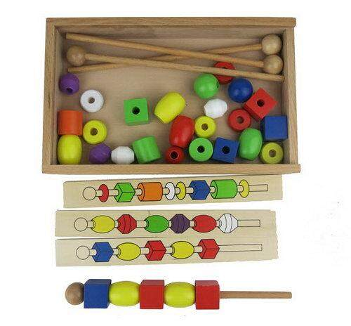 Wooden Lacing Beads baby toys