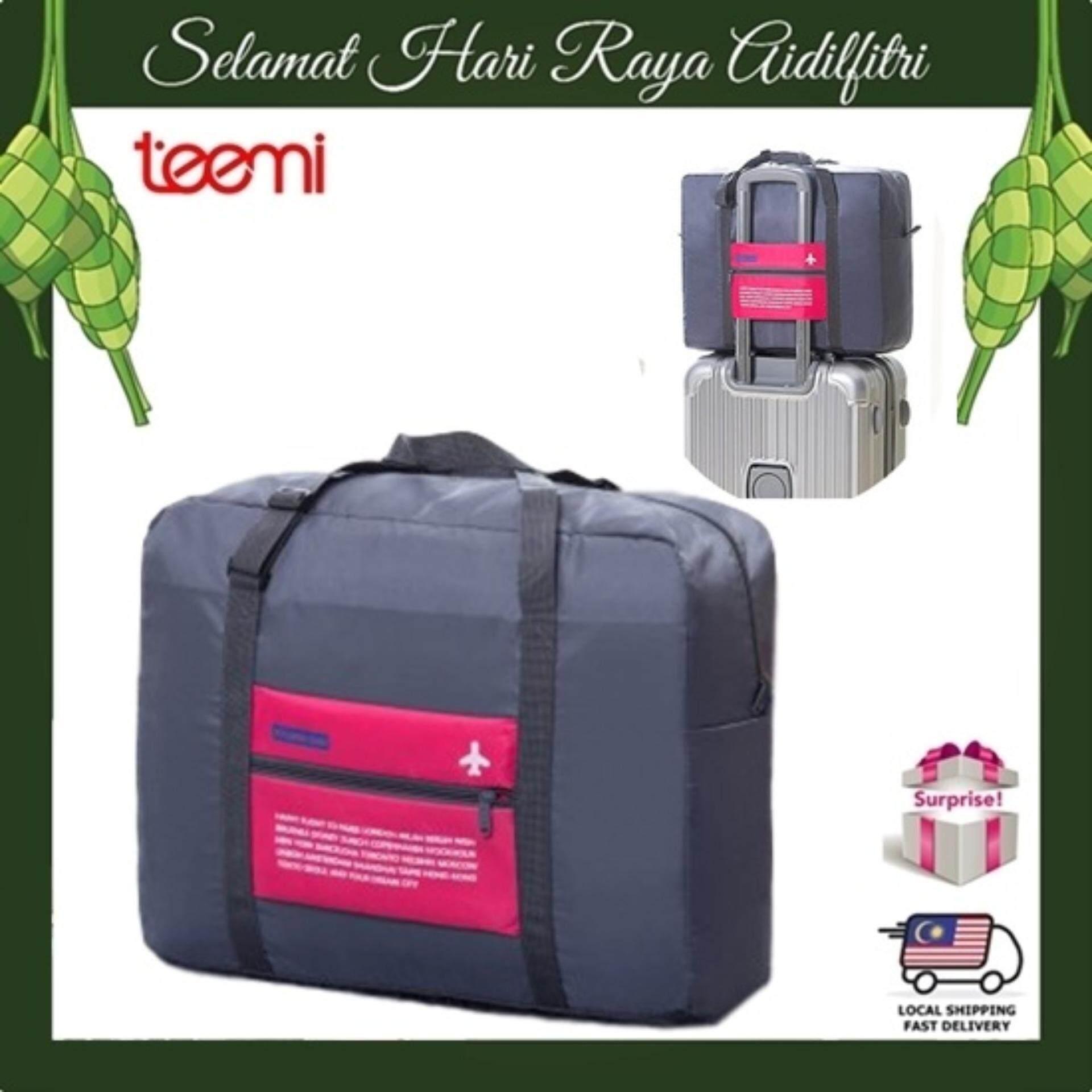 TEEMI Foldable Portable Travel Bag Nylon Folding Luggage Baggage Unisex Handbags Organizer Storage Bag Water Resistant