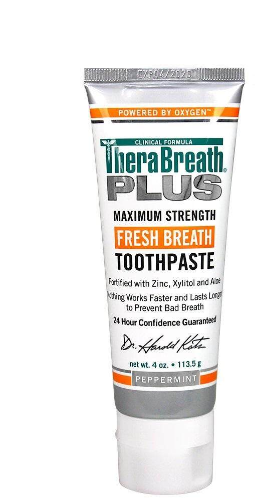 [ iiMONO ] TheraBreath PLUS Toothpaste – Dentist Recommended – Maximum-Strength Toothpaste – Stops Chronic Halitosis – Certified Vegan – Approved for Diabetics, 4 Ounce