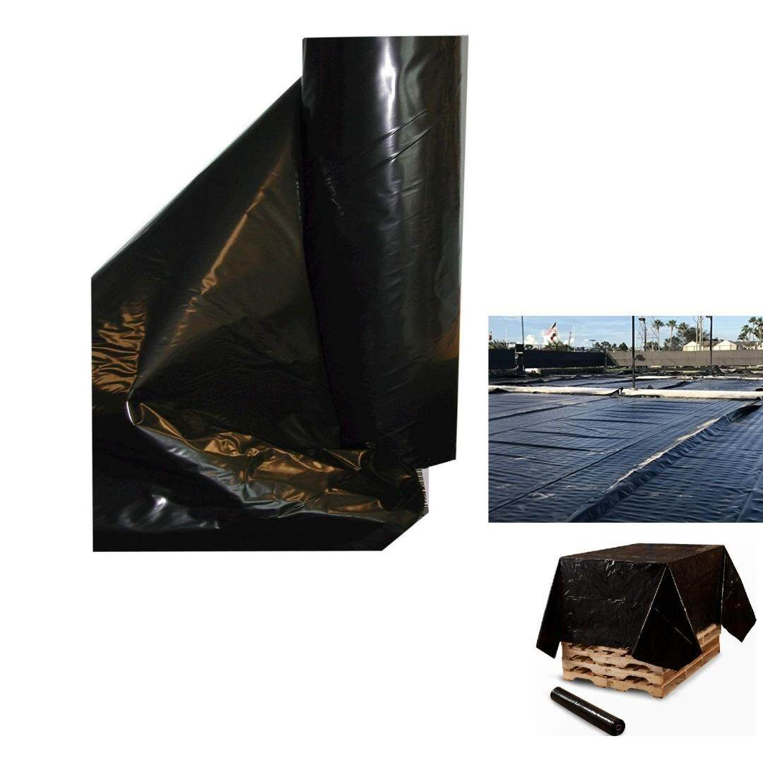 UV Poly Plastic Sheeting 6mil Thickness Black 4W fit X 10L fit with 700G