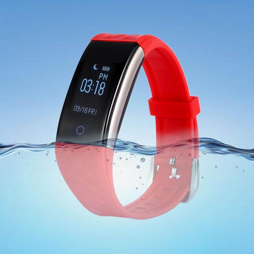 Fitness Tracker - Support Fitness Tracker Waterproof Heart Rate Detection Smart Bluetooth Watch - [BLACK]