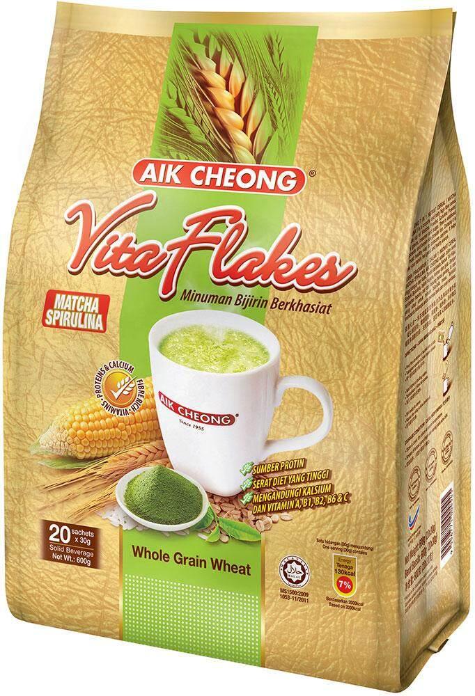 Aik Cheong Vita Flakes (Matcha Spirulina)