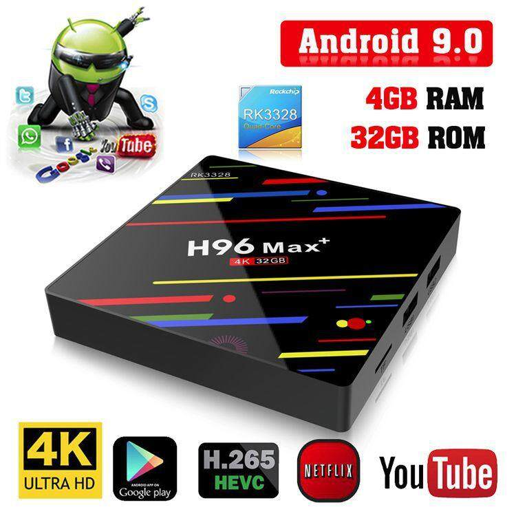 น่าน H96 Max+ RK3328 RAM4G ROM32G 2.4G/5GWiFi Android 9.0 4K tv box