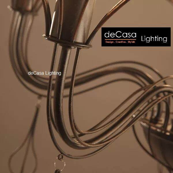 Designer Ceiling Lamp Western Style Modern Chandelier Decasa Lighting Black Modern Candle Light Ceiling Light (APH-A379/5)