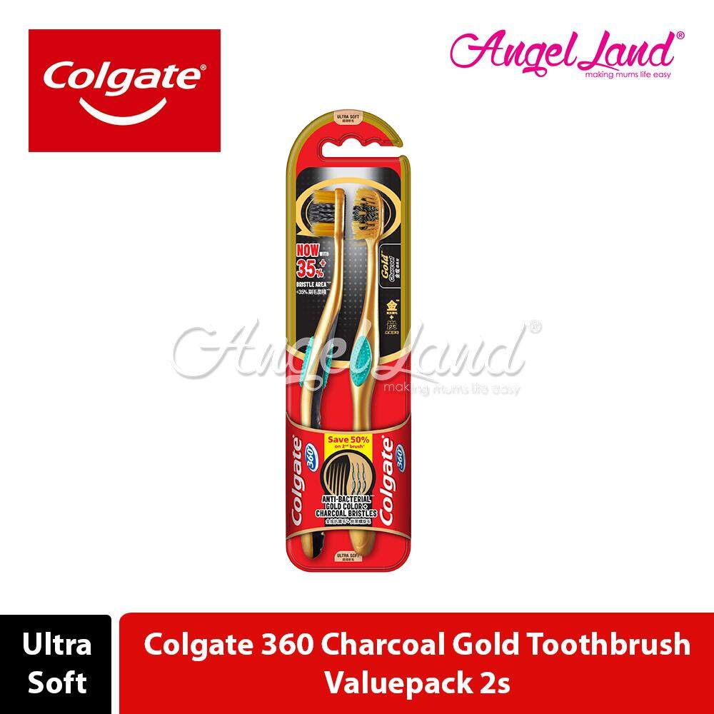 Colgate 360 Charcoal Toothbrush Valuepack 2s (Ultra Soft)
