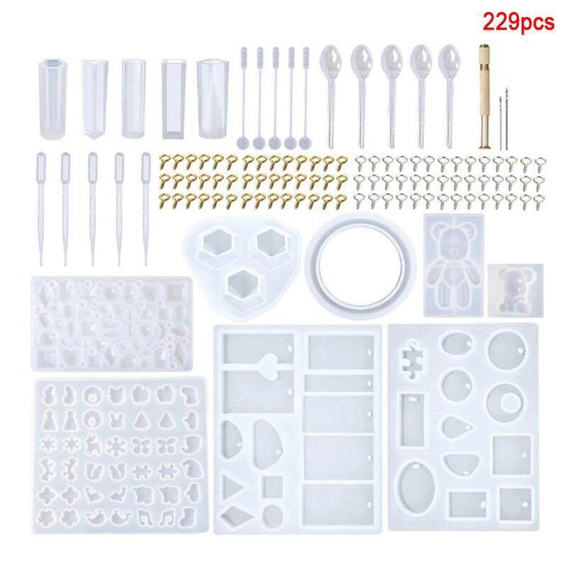 JOLLIC 229 CHIẾC Nhựa Silicon Khuôn TỰ LÀM Mặt Dây Chuyền Nữ Trang Sức Dụng Cụ Làm Khuôn Mẫu Handmade Thủ Công