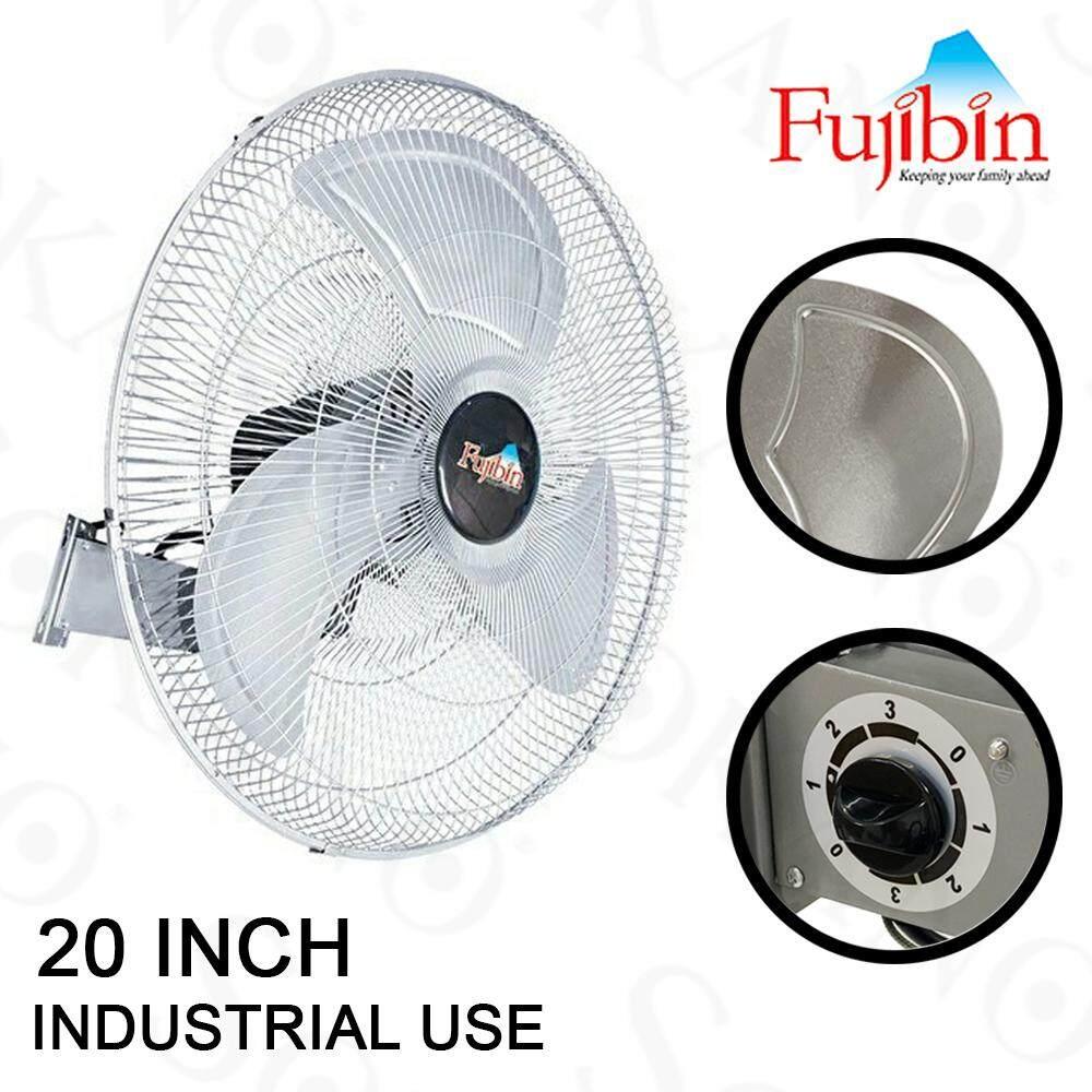 """Fujibin FBW-20 20"""" Powerful Industrial Wall Fan Metal Blade"""
