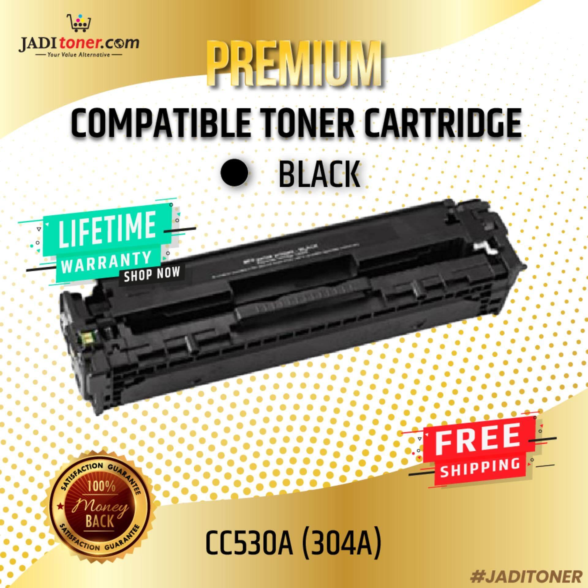 Compatible CC530A 304A Black Laser Toner Cartridge For HP CC530 530A Color Laserjet CP2020 / HP Color Laserjet Pro CP2024 / HP Color Laserjet Pro CP2025 / HP Color Laserjet Pro CP2026 / HP Color Laserjet Pro CP2027 / HP Color Laserjet Pro CM2320 MFP