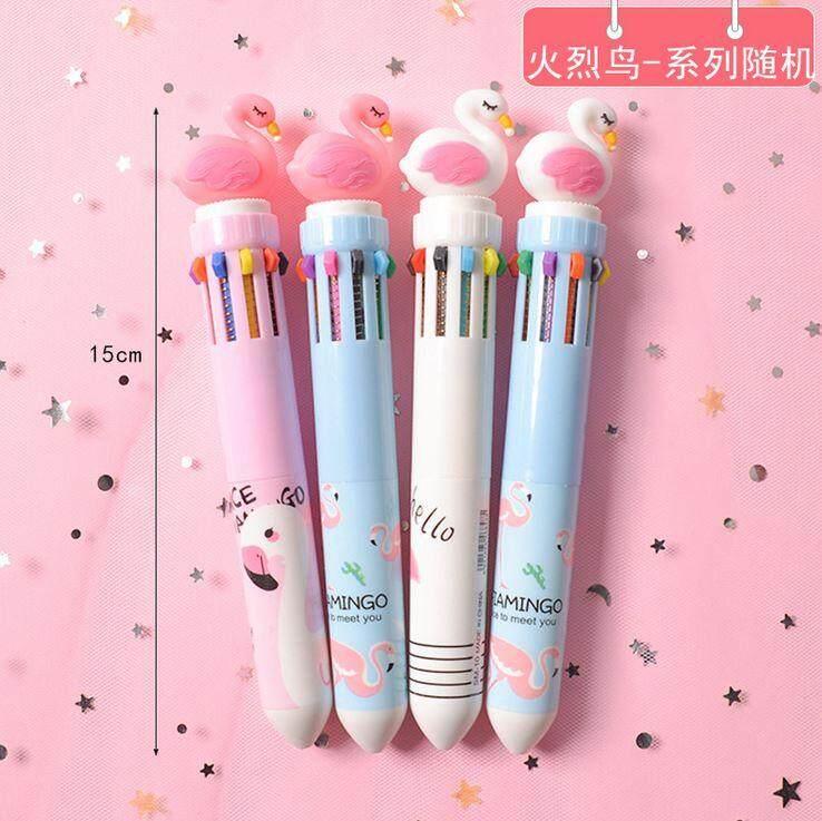 10 in 1 Cute Character Head 0.5 mm Ballpoint Pen ACC-032