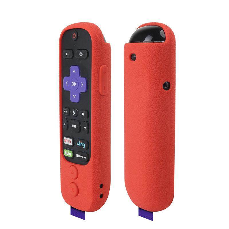 Silicone Protective Case Cover For Roku Ultra with Power Button Remote  Control