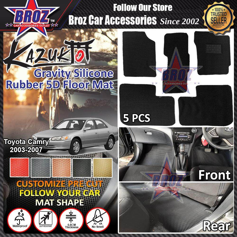 Kazuko Toyota Camry 2003-2007 PRE CUT Gravity Silicone Rubber Floor Mat - 5 PCS