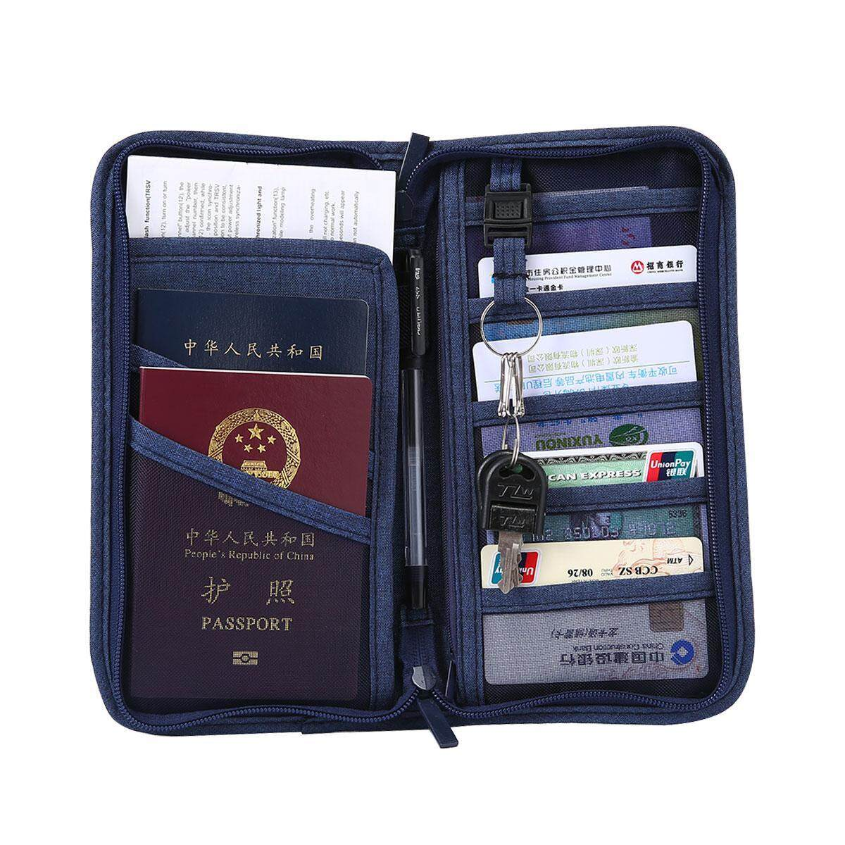 9f069884abbd GoodGreat Travel Wallet Multi-functional Passport Holder Travel Card  Organiser Pouch Storage Bag For Smart Phone, Key,Pens,Ticket,Cash,Passport