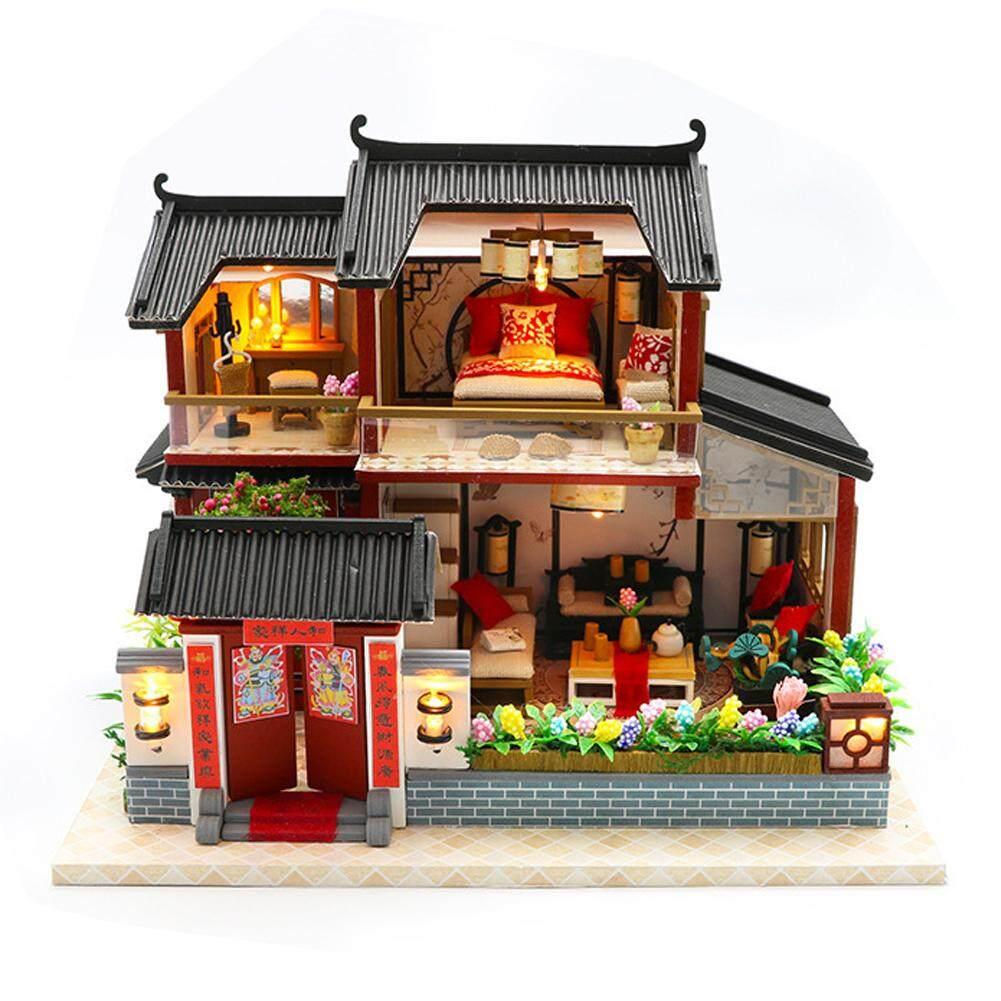 Hình ảnh Mô Hình Nhà Nhỏ Tự Làm Mô Hình Xây Dựng Câu Đố Mô Hình Lắp Ráp Phong Cách Trung Quốc Siheyuan Handmade Craft Quà Tặng Sáng Tạo