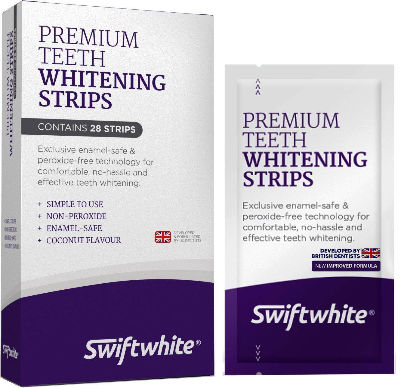SWIFTWHITE Teeth Whitening Strips, Fast Results & No Sensitivity, Superior Than Crest 3D Whitestrips and HiSmile Teeth Whitening Kits