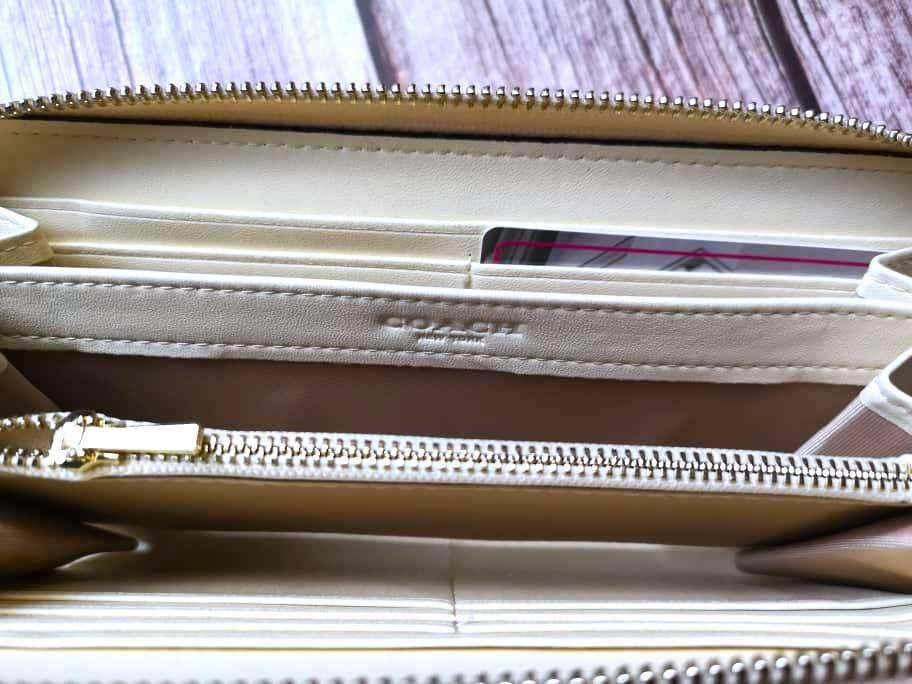 Coach Women Metallic Accordion Zip Wallet