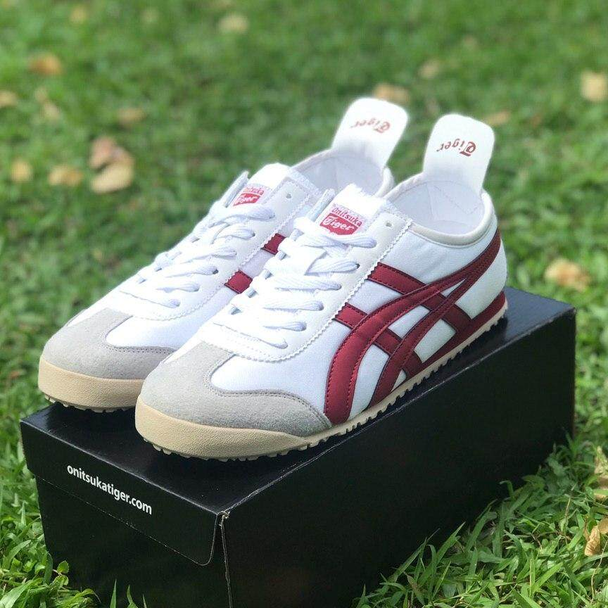 best service 18120 bd4a9 ONITSUKA TIGER WHITE RED WINE 41-45 EURO