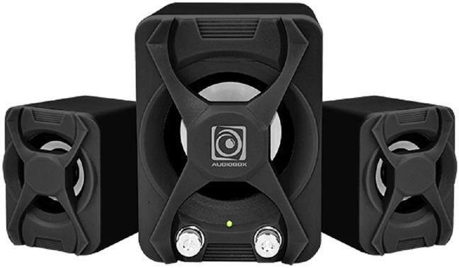 Audiobox U-Blast 2.1 Speaker System with Subwoofer Bass and Master Control USB Powered 3.5mm Audio Jack for PC (Black)