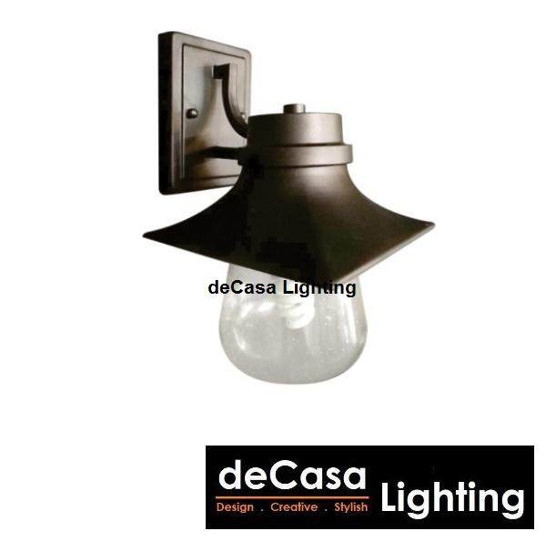 NEW ARRIVAL Outdoor Wall Light Black Down Effect Light E27 Aluminium Glass Outdoor Garden Lamp Lampu Hiasan Luar Rumah (OD-W8579)