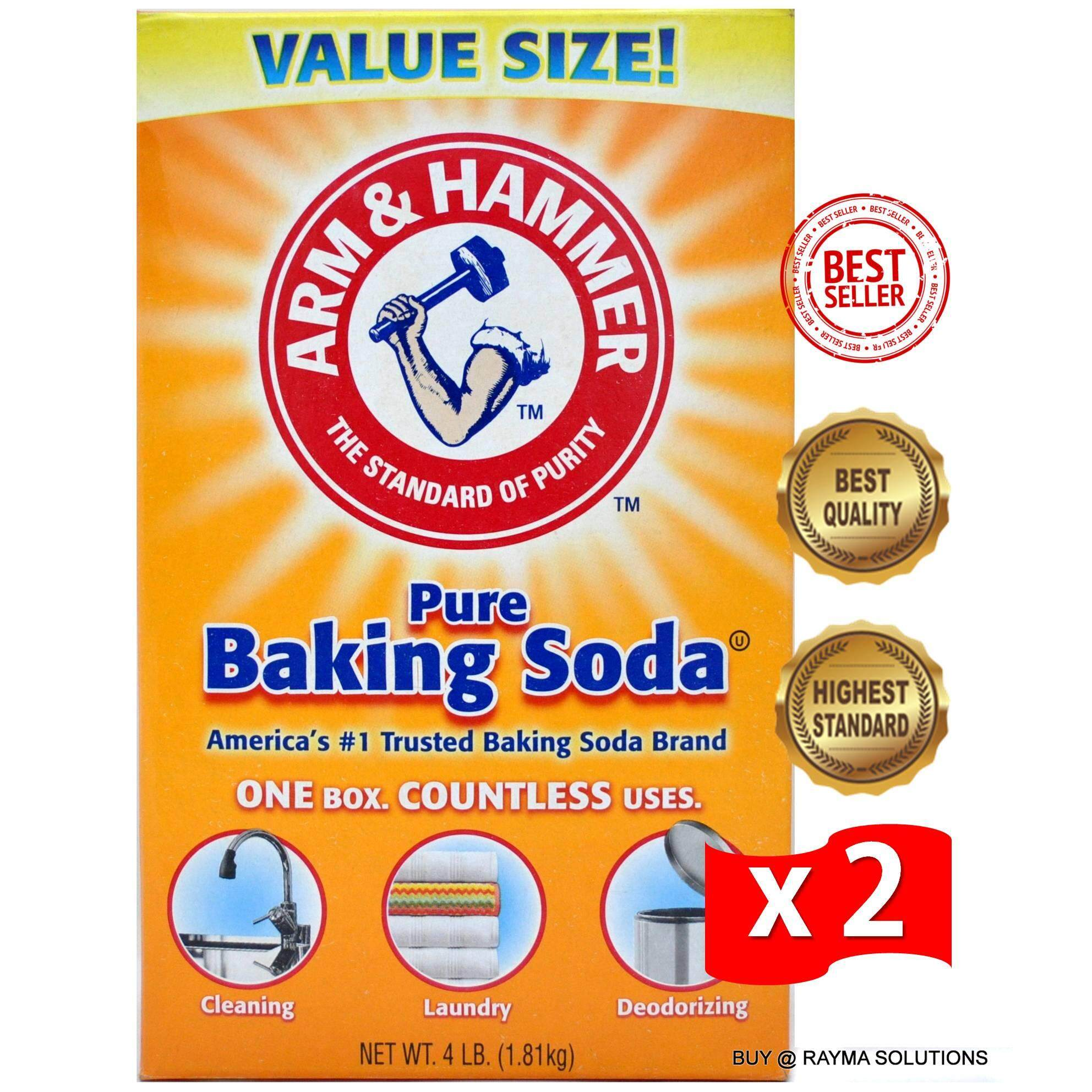 [$AVE More!] ARM & HAMMER Pure Baking Soda, Value Size, 1.81kg (Twin Pack)